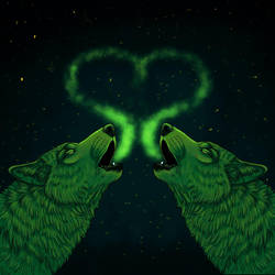 Green Nature Wolves by FelonDog