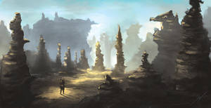 Desert Landscape by ScoffsArt