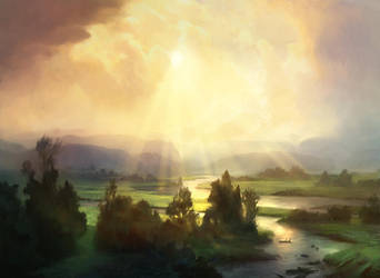 Plains (Avacyn Restored) by AdamPaquette