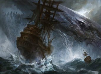 Colossal Whale by AdamPaquette
