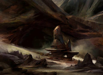 Bloodfell Caves by AdamPaquette