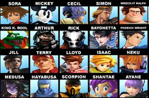 Super Smash Bros. Newcomers Dream List. by DarkOverlord1296