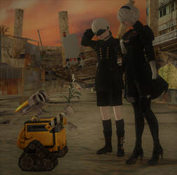 NieR/WALL-E: 'This one's... different...' by DarkOverlord1296