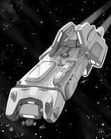 Spaceship Peregrine Concept by natebarnes