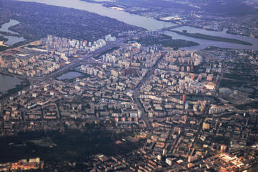 Kyiv left bank Aerial. by notroot