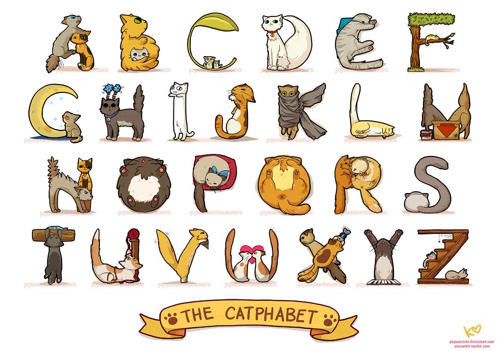 cat alphabet by pepaaminto
