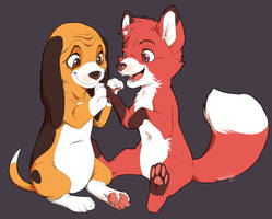Tod and Copper by xMits