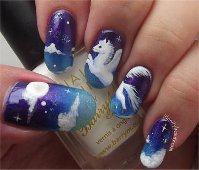 Freehand Starry Sky And Flying Pegasus by Ithfifi
