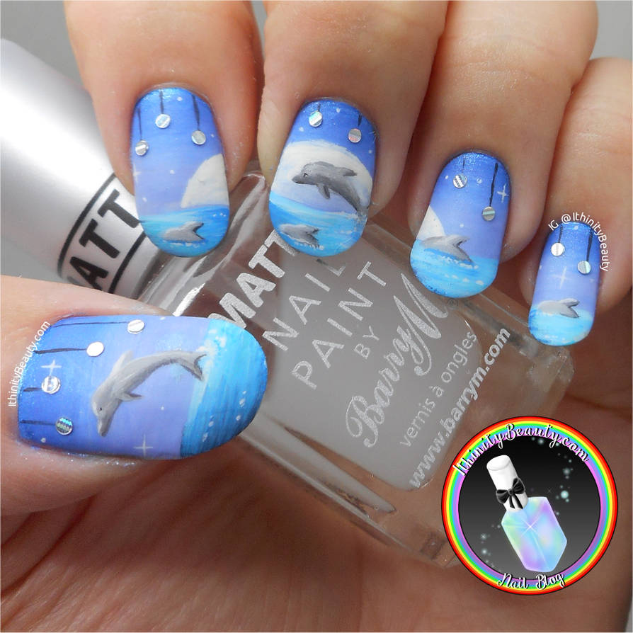 Freehand Dolphin Nail Art by Ithfifi ... - Freehand Dolphin Nail Art By Ithfifi On DeviantArt