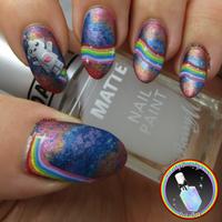 Rainbow Robot Nail Art by Ithfifi