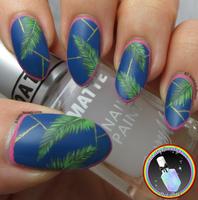 Tropical Palm Leave Nail Art by Ithfifi