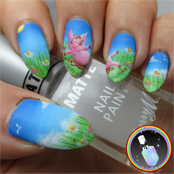 Spring Piggy Nail Art by Ithfifi