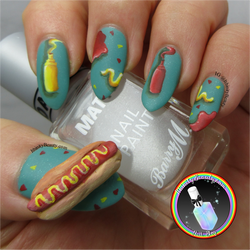 3D Hot Dog Nail Art by Ithfifi