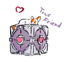 JCBS and Companion Cube by Oqrasama