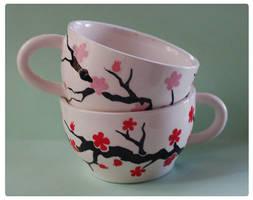 +Sakura Tea Cups+ by nayruasukei
