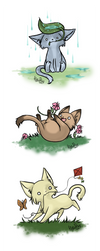 +kitties of spring and summer+ by nayruasukei