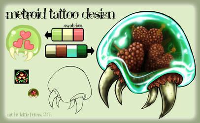 +Metroid Tattoo Design+ by nayruasukei
