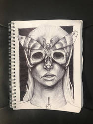 Sketch31: Deathmask by TheMightyGoat