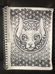 Sketch35: Spynx Cat by TheMightyGoat