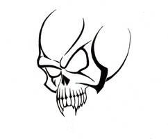 Tribal Skull Tattoo by BlakSkull