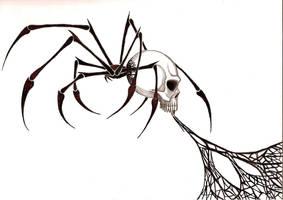 TRIBAL SPIDER SKULL by BlakSkull