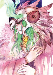 Postcard - Forest spirit by Enijoi
