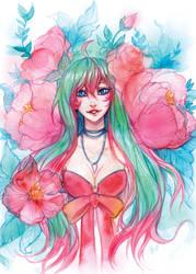 Postcard - Flowers by Enijoi