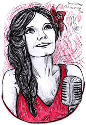 Inktober 2018 #9 - Anette Olzon by SeaCat2401