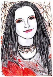 Inktober 2018 #13 - Amy Lee, Evanescence by SeaCat2401