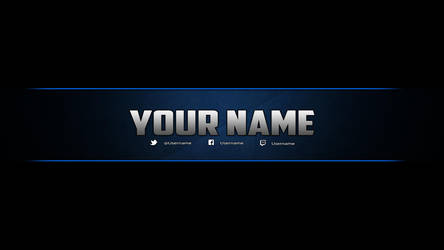 Youtube Banner Template (Photoshop) by DazGames