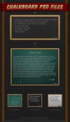 iBullz ChalkBoard PSD Files... by BullzArtDesign