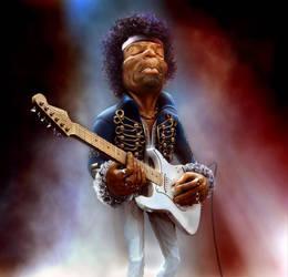 Jimi Hendrix-The Guitar Legend by klicek