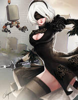 2B of Nier Automata by Shaiyan