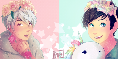 Pastel Edits Dan and Phil by Emolise