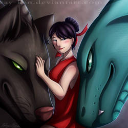 A Girl and Two Dragons (Dragon Rider AU) by Ray-Ken
