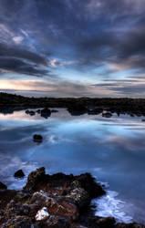 Blue lagoon sunrise 3 by monkeyheadmushroom