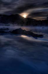 Blue lagoon sunrise 4 by monkeyheadmushroom