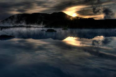 Blue Lagoon sunrise 5 by monkeyheadmushroom
