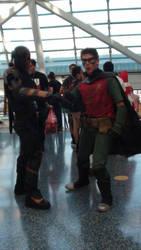 Robin and Deathstroke or Slade by skaterichigo