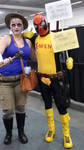 Deadpool and Person by skaterichigo