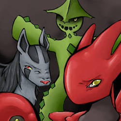 Scizor and Co by teraphim
