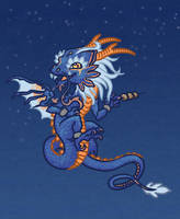 Chibi_eastern_dragon by Blacklotuscomic