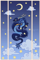 Moon dragon Print version by Blacklotuscomic