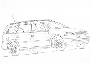 Opel Astra G Caravan 1/3 by PaperGarage