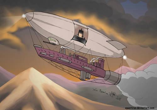 Commission - Airship by Epantiras