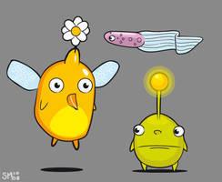 trio of creatures by scribblehutsam