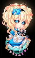 A.I.W keychains: Alice by CosmicSpectrumm