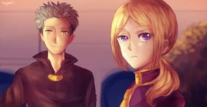 Mitsuhide and Kiki by Skyavii