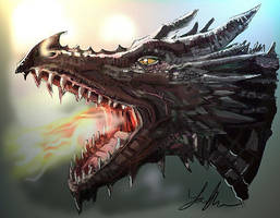 Game Of Thrones Dragon by RedSaucers