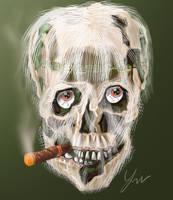 Skull Smoker by RedSaucers